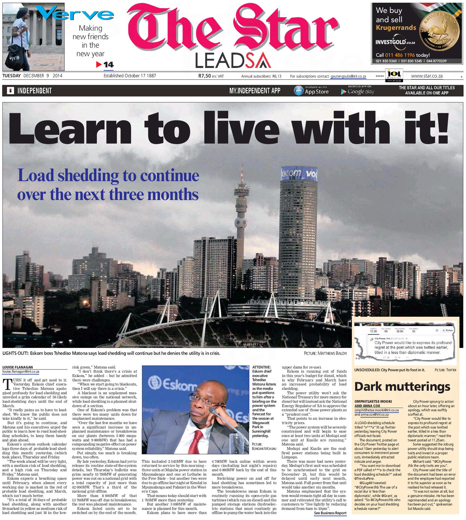 Learn To Live With It - Load Shedding - StandbySystems